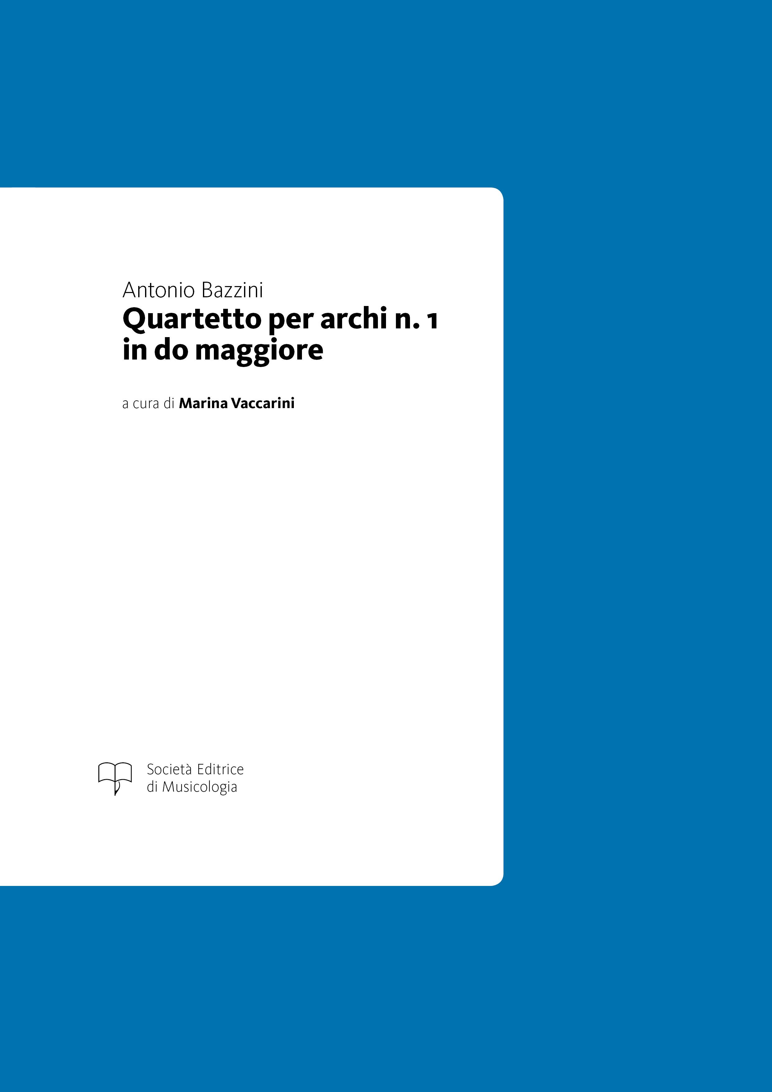 Bazzini - Quartetto per archi n. 1 in do maggiore