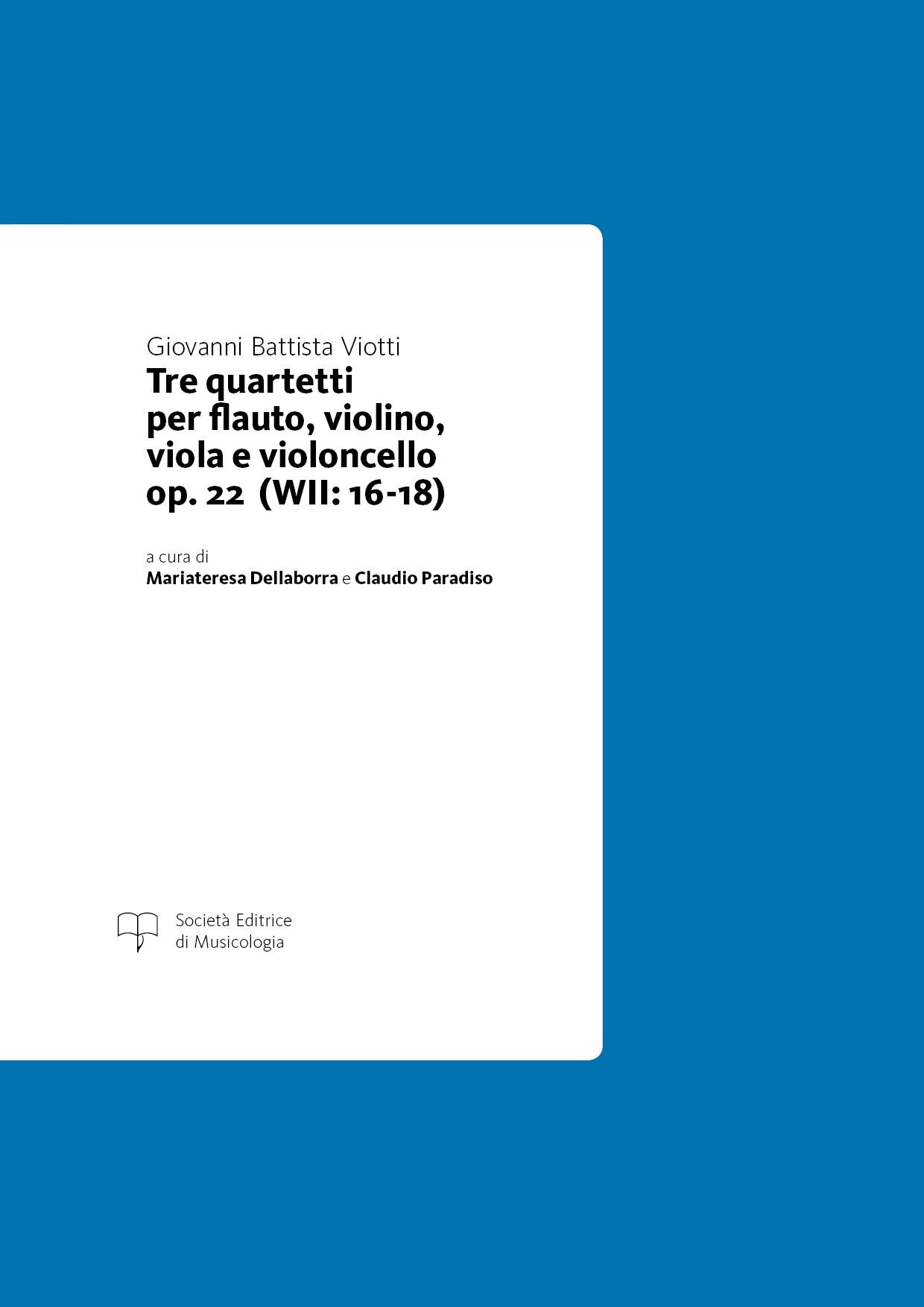 Viotti - Tre quartetti op. 22 (WII: 16-18)